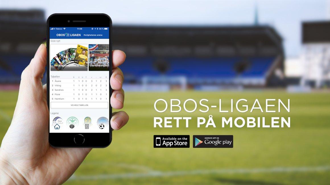 Last ned den nye appen til OBOS-ligaen!