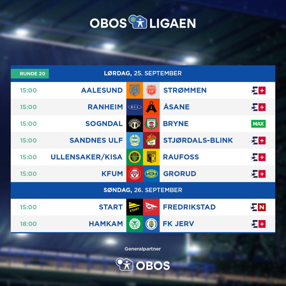 OBOS-ligaen - 2021 - Rundeoppsett - Runde 20.png
