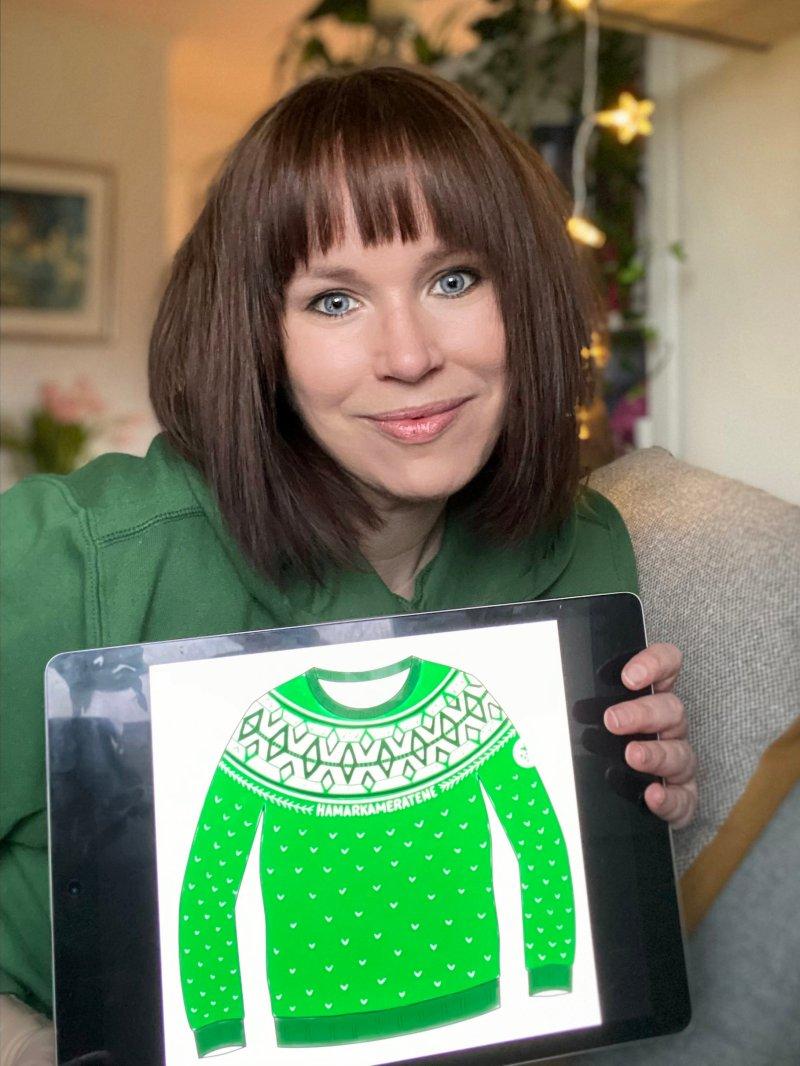 Designeren av HAMKAM genseren; Ina Helen Herland